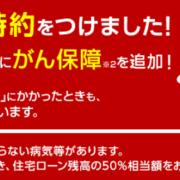 楽天銀行(金利選択型)のがん50%保障付き住宅ローン