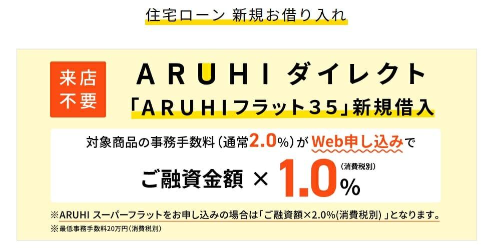 ARUHIダイレクトの融資事務手数料半額キャンペーン